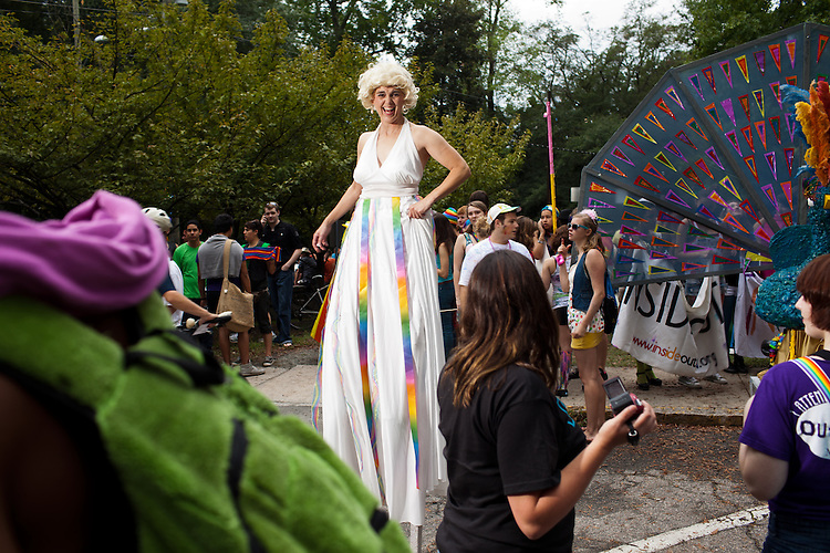 If Marilyn Monroe were a man on stilts - the 27th annual N.C. PRIDE parade in Durham, NC, Saturday, September 24, 2011.