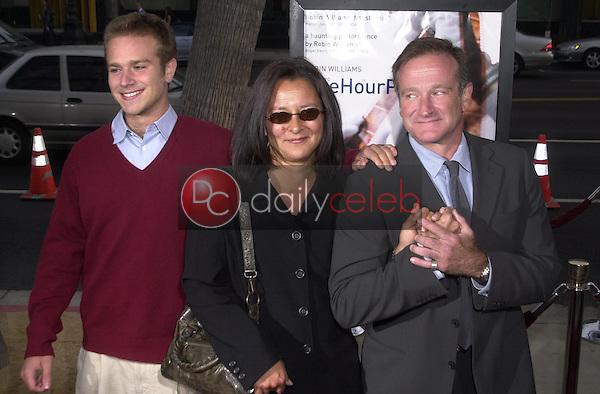 Robin Williams, Son Zak and Wife Marsha