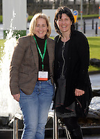 Pictured at the Fianna Fail Ard Fheis in Killarney on Friday were on left, Norma Moriarty, Waterville, County Kerry and Lisa Aherne, Killarney.<br /> Picture by Don MacMonagle