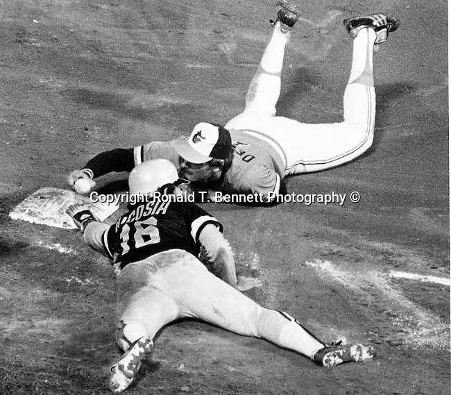 1983 Philadelphia Phillies vs. Baltimore Orioles World Series Baseball Baltimore Maryland,  Orioles are members of Eastern Division of Major League Baseball's American League and Philadelphia Phillies are members of MLB National League,