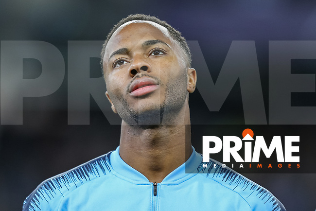 Raheem STIRLING of Manchester City during the UEFA Champions League match between Manchester City and Olympique Lyonnais at the Etihad Stadium, Manchester, England on 19 September 2018. Photo by David Horn / PRiME Media Images.