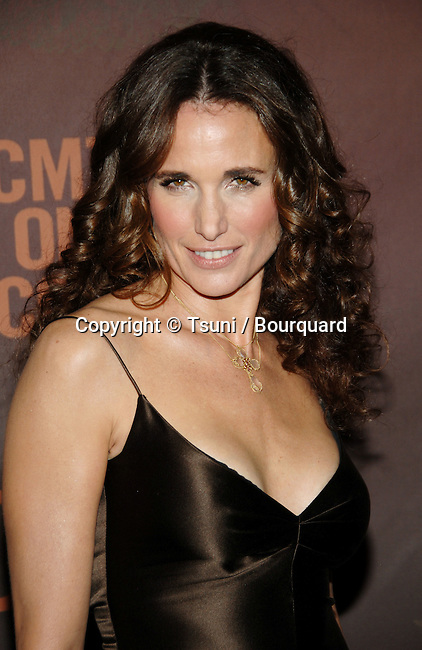 Andie MacDowell arriving at CTM Giants Honoring Reba McEntire at the Kodak Theatre in Los Angeles.<br /> <br /> headshot<br /> eye contact
