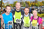 Pictured at the Tralee Carers 10k Mini Marathon at the Brandon Hotel on Sunday were from left: Mike Kissane (Listowel) Derek Nagle (Ballybunion) Terry Trainer (Ballyduff) and Anne Carmody (Ballybunion).