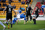 St Johnstone v Hamilton Accies&hellip;10.11.18&hellip;   McDiarmid Park    SPFL<br />Murray Davidson&rsquo;s overhead kick is blocked<br />Picture by Graeme Hart. <br />Copyright Perthshire Picture Agency<br />Tel: 01738 623350  Mobile: 07990 594431