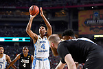 GLENDALE, AZ - APRIL 03: Isaiah Hicks #4 of the North Carolina Tar Heels shoots a free throw during the 2017 NCAA Men's Final Four National Championship game against the Gonzaga Bulldogs at University of Phoenix Stadium on April 3, 2017 in Glendale, Arizona.  (Photo by Brett Wilhelm/NCAA Photos via Getty Images)