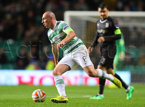 23.10.2014.  Glasgow, Scotland. UEFA Europa League. Celtic versus Astra Giurgiu. Celtic captain Scott Brown