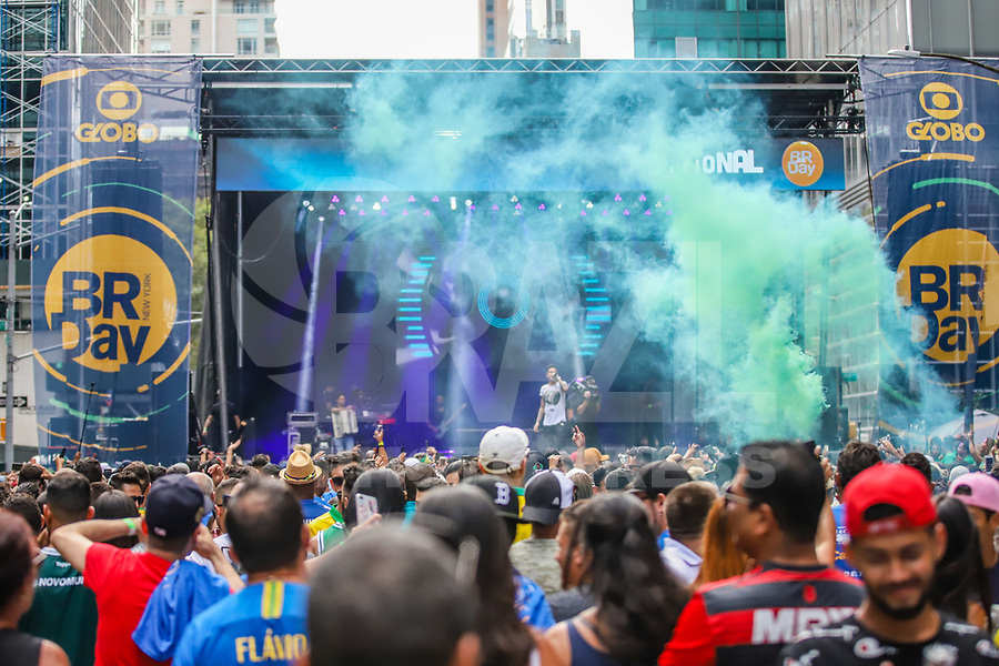 NOVA YORK (EUA) 01.09.2019 - BRAZILIAN-DAY - Palco durante brazilian Day na cidade de Nova York neste domingo, 01. (Foto: Vanessa Carvalho/Brazil Photo Press)