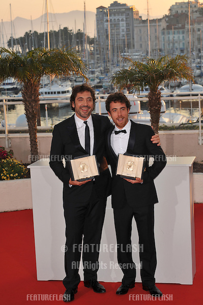 Javier Bardem (left) & Elio Germano at the closing Awards Gala at the 63rd Festival de Cannes..May 23, 2010  Cannes, France.Picture: Paul Smith / Featureflash