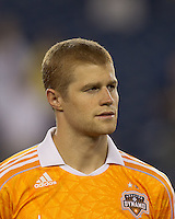 Houston Dynamo defender Andre Hainault (31). In a Major League Soccer (MLS) match, the New England Revolution tied Houston Dynamo, 1-1, at Gillette Stadium on August 17, 2011.