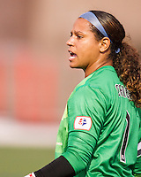 Sky Blue FC goalkeeper Brittany Cameron (1).  In a National Women's Soccer League Elite (NWSL) match, Sky Blue FC defeated the Boston Breakers, 3-2, at Dilboy Stadium on June 16, 2013