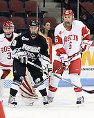 Melissa Haber (BU - 33), Jackie Duncan (Providence - 19), Carly Warren (BU - 6). - The Boston University Terriers defeated the Providence College Friars 5-3 on Saturday, November 14, 2009, at Agganis Arena in Boston, Massachusetts.