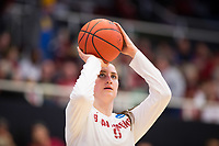 STANFORD, CA - March 17, 2018: Shannon Coffee at Maples Pavilion. The Stanford Cardinal defeated the Gonzaga Bulldogs 82-68 to advance to the second round of the NCAA tournament.