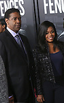Denzel Washington and Gabby Douglas attends the 'Fences' New York screening at Rose Theater, Jazz at Lincoln Center on December 19, 2016 in New York City.