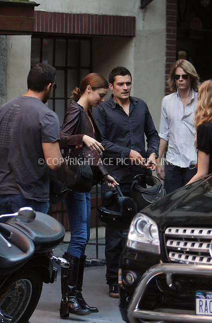 WWW.ACEPIXS.COM ** ** ** ....August 20 2008, New York City....Actor Orlando Bloom and his girlfriend Victoria's Secret model Miranda Kerr out with friends in Manhattan on August 20 2008 in New York City ....Please byline: STAN ROSE -- ACEPIXS.COM.. *** ***  ..Ace Pictures, Inc:  ..tel: (646) 769 0430..e-mail: info@acepixs.com..web: http://www.acepixs.com