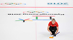 Vicki Adams (GBR). Womens Curling training. Pyeongchang2018 winter Olympics Gangneung curling centre. Gangneung. Republic of Korea. 12/02/2018. ~ MANDATORY CREDIT Garry Bowden/SIPPA - NO UNAUTHORISED USE - +44 7837 394578