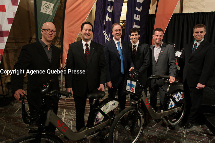 Montreal Mayor Michael Applebaum at a news conference for the BIXI<br /> .  He was arrested later that year on charges or corruption.<br /> <br /> File Photo : Agence Quebec Presse - Pierre Roussel