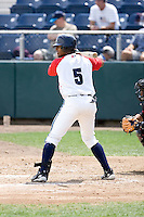 July 6, 2008: Everett AquaSox catcher Fleming Baez at-bat against the Yakima Bears during a Northwest League game at Everett Memorial Stadium in Everett, Washington.