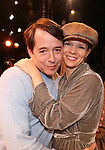 Matthew Broderick & Kelli O'Hara.during the Broadway Opening Night Gypsy Robe Ceremony honoring Cameron Adams in 'Nice Work If You Can Get It' at the ImperialTheatre on 4/24/2012 in New York City.