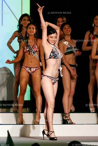 Miss Shiga, Narumi Yamaguchi, competes in the swimsuit category during Miss Universe Japan competition at Hotel Chinzanso Tokyo on July 4, 2017, Tokyo, Japan. Momoko Abe from Chiba who won the title will represent Japan in the next Miss Universe competition. (Photo by Rodrigo Reyes Marin/AFLO)