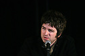 Noel Gallagher speaks during a press conference at Slane Castle, after it was announced that Oasis will be playing there Saturday June 20th, 2009. (Subject to License). Photo/Paul McErlane