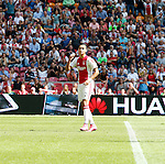 Nederland, Amsterdam, 30 augustus 2015<br /> Eredivisie<br /> Seizoen 2015-2016<br /> Ajax-ADO Den Haag<br /> Anwar El Ghazi van Ajax balt een vuist, nadat hij de 1-0 heeft gescoord.