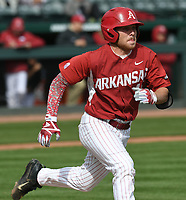 NWA Democrat-Gazette/ANDY SHUPE<br /> Arkansas Alcorn State Wednesday, March 15, 2017, during the inning at Baum Stadium. Visit nwadg.com/photos to see more photographs from the game.
