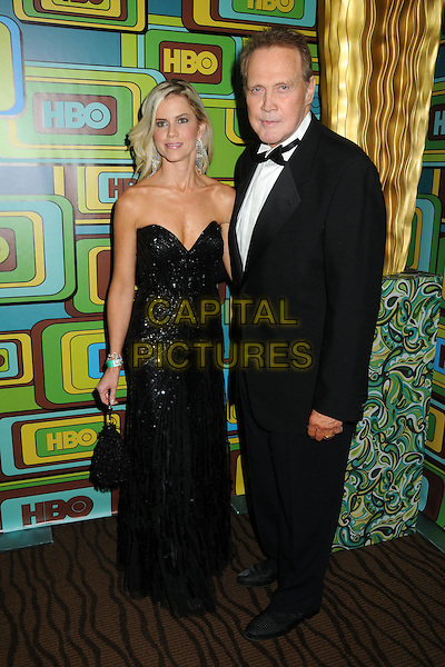 FAITH & LEE MAJORS.HBO 2011 Post Golden Globe Awards Party held at The Beverly Hilton Hotel, Beverly Hills, California, USA..January 16th, 2011.full length black dress strapless tuxedo married husband wife.CAP/ADM/BP.©Byron Purvis/AdMedia/Capital Pictures.