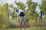 19 MAY 2016: Griffin Brown of Limestone College hits a tee shot during the 2016 Division II Men's Individual Golf Championship held at Green Valley Ranch Golf Club in Denver, CO. Justin Tafoya/NCAA Photos