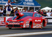 Jun 19, 2015; Bristol, TN, USA; NHRA pro stock driver Erica Enders-Stevens during qualifying for the Thunder Valley Nationals at Bristol Dragway. Mandatory Credit: Mark J. Rebilas-