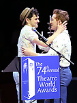 Wesley Taylor and Ethan Slater during the 74th Annual Theatre World Awards at Circle in the Square on June 4, 2018 in New York City.