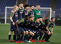 Europa League quarter-final 1st leg <br /> S.S. Lazio - FC Salzburg  Olympic Stadium Rome, April 5, 2018.<br /> FC Salzburg players pose for the pre match photograph prior to theEuropa League match between Lazio and Salzburg at Rome's Olympic stadium, April 5, 2018.<br /> UPDATE IMAGES PRESS/Isabella Bonotto
