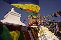 November 23, 2014 - Kathmandu (Nepal). View of the Boudhanath stupa in Kathmandu - also known as Bodnath, is the biggest stupa in Nepal and the holiest Tibetan temple outside Tibet. © Thomas Cristofoletti / Ruom