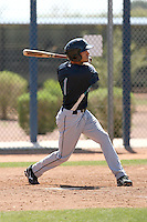 Danny Carroll #1 of the Seattle Mariners plays in a minor league spring training intrasquad game at the Mariners minor league complex on March 27, 2011  in Peoria, Arizona. .Photo by:  Bill Mitchell/Four Seam Images.