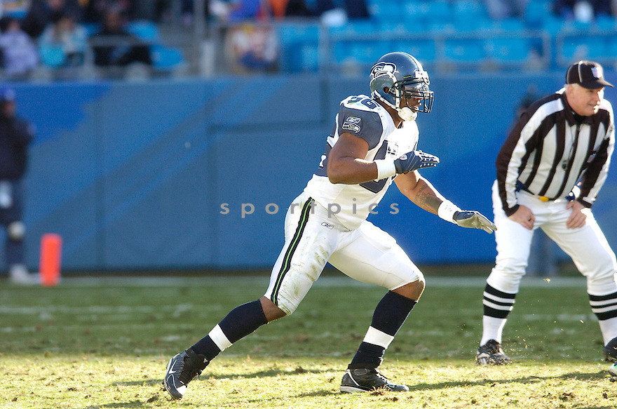 LEROY HILL, of the Seattle Seahawks  in action during the Seahawks game against the Carolina Panthers  on December 16, 2007 in Charlotte, North Carolina...PANTHERS win 13-10..SPORTPICS
