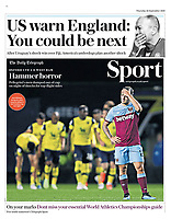 Daily Telegraph - 26-Sep-2019 - 'Hammer horror' - Photo by Rob Newell (Camerasport via Getty Images)