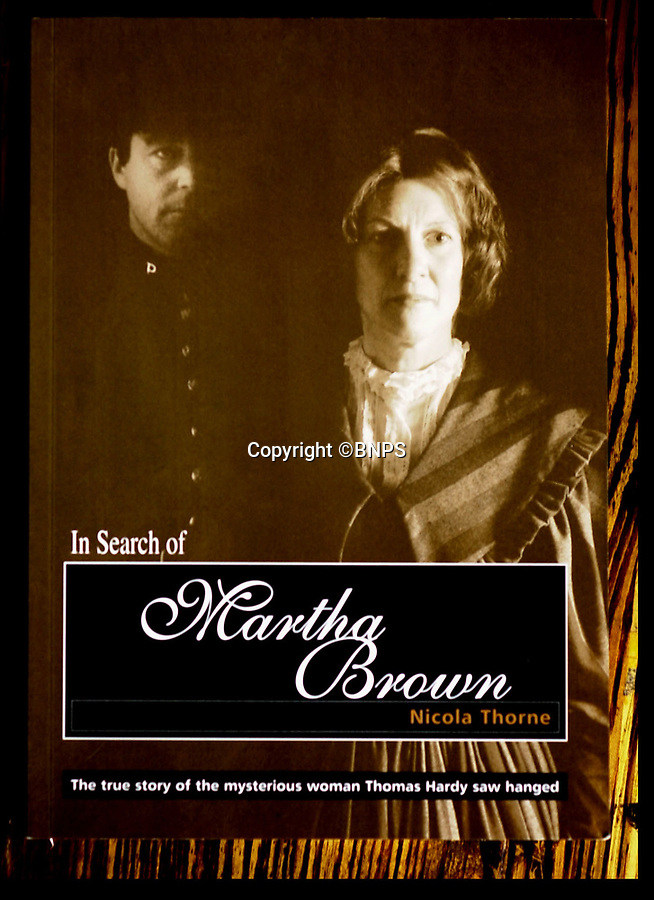 BNPS.co.uk (01202 558833)<br /> Pic: PhilYeomans/BNPS<br /> <br /> The book cover for In Search Of Martha Brown by author Nicola Thorne which reveals, a 16 year old Thomas Hardy watched Martha Brown hung in 1856.<br /> <br /> The remains of the real-life Tess of the D'Urbervilles are to be exhumed from a former prison ground and given a proper burial 162 years after her execution, church authorities have ruled.<br /> <br /> Martha Brown, a convicted murderess who inspired author Thomas Hardy after he witnessed her execution in 1856, is one of the 47 convicts buried at Dorchester Prison in Dorset.<br /> <br /> The closed jail has been sold off for development with 185 houses due to be built there. <br /> <br /> The developers, City and Country, wanted to leave the remains alone or to only remove those disturbed in the building work but campaigners, including Downton Abbey creator Julian Fellowes, have been fighting for all the bodies to be exhumed.<br /> <br /> And after it was discovered the burial ground was consecrated, it was left to the Bishop of Salisbury to make the decision.