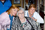 Breda Walsh, Eileen Sheehy and Betty Shanahan, enjoying the Knocknagoshel Senior Citizens lunch at the Brogue Inn, Tralee, on Saturday last.