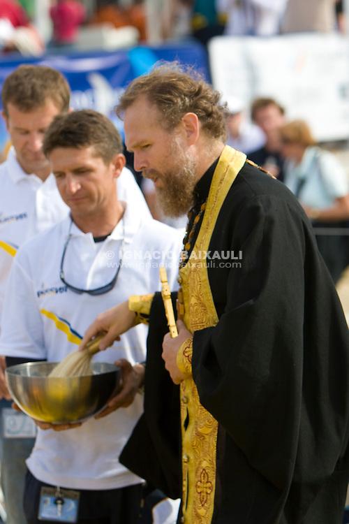 Team Russia Kosatka christening VOLVO OCEAN RACE 2008-2009