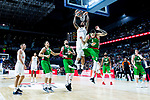 Real Madrid Jeffery Taylor and Kirolbet Baskonia Luca Vildoza during Turkish Airlines Euroleague match between Real Madrid and Kirolbet Baskonia at Wizink Center in Madrid, Spain. October 19, 2018. (ALTERPHOTOS/Borja B.Hojas)