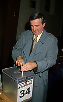 Montreal (Qc) Canada  file Photo - Nov 6 1994 -  Pierre Bourque get elected Mayor of Montreal, replacing Jean Dore. - Pierre Bourque