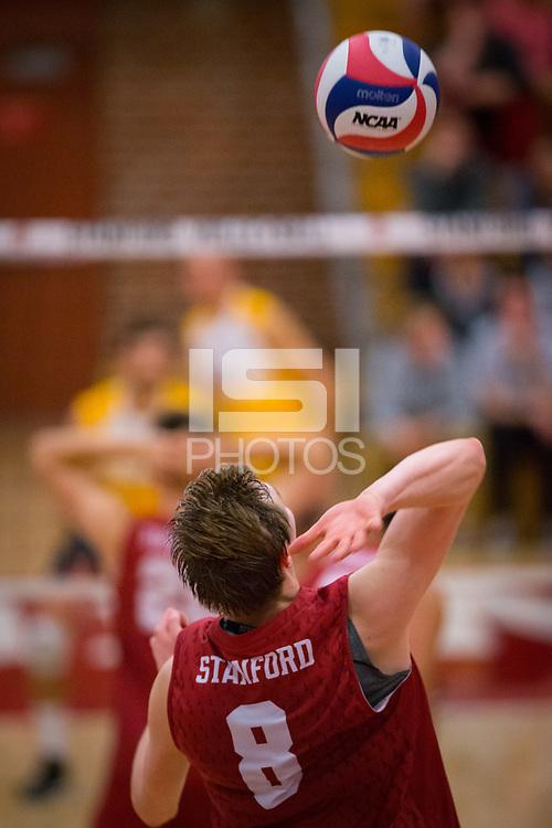STANFORD, CA - March 10, 2018: Leo Henken at Burnham Pavilion. UC Irvine defeated the Stanford Cardinal, 3-0.
