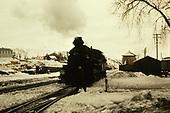 D&amp;RGW #478 in snowy Durango yard.<br /> D&amp;RGW  Durango, CO