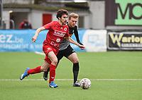 FC GULLEGEM - RC GENT :<br /> Nicolas Gheeraert (L) tracht voorbij Oleksandr Beshliaha (R) te geraken <br /> <br /> Foto VDB / Bart Vandenbroucke