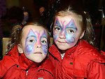 Twins Hannah and Chloe McGovern pictured at the Stamullen Christmas market. Photo:Colin Bell/pressphotos.ie
