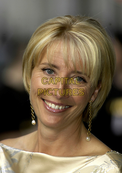 EMMA THOMPSON.The Glamour Magazine 3rd Annual Women Of The Year Awards - Arrivals, Berkeley Square, London, UK..June 6th, 2006.Ref: IA.headshot portrait dangling gold pearl earrings.www.capitalpictures.com.sales@capitalpictures.com.©Capital Pictures