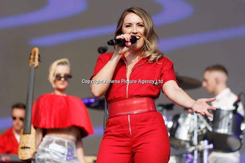 Pictured: Kirsten Joy of Clean Bandit. Saturday 26 May 2018<br /> Re: BBC Radio 1 Biggest Weekend at Singleton Park in Swansea, Wales, UK.