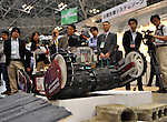 Nobember 9, 2011, Tokyo, Japan - A probing robot designed for disastrus areas is on demonstration during the International Robot Exhibition 2011 opened in Tokyo on Wednesday, November 9, 2011. The three-day trade show, sponsored by the Japan Robot Association, was designed promote new products and develop new business through contributing the promotion of new technology. (Photo by Natsuki Sakai/AFLO) [3615] -mis-..