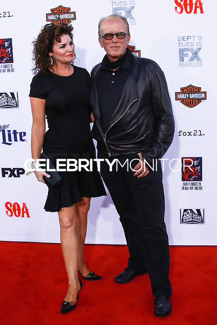 HOLLYWOOD, LOS ANGELES, CA, USA - SEPTEMBER 06: Sheri Stowe Weller, Peter Weller arrives at the Los Angeles Premiere Of FX's 'Sons Of Anarchy' Season 7 held at the TCL Chinese Theatre on September 6, 2014 in Hollywood, Los Angeles, California, United States. (Photo by David Acosta/Celebrity Monitor)