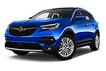 Stock pictures of low aggressive front three quarter view of a 2018 Opel Grandland X Innovation 5 Door SUV