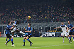 Duvan Zapata of Atalanta heads goal wards during the Serie A match at Giuseppe Meazza, Milan. Picture date: 11th January 2020. Picture credit should read: Jonathan Moscrop/Sportimage